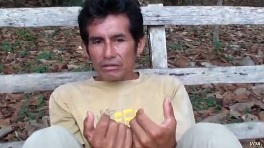 FILE - Environmental activist and a leader of Peru's Ashaninka indigenous group Edwin Chota.