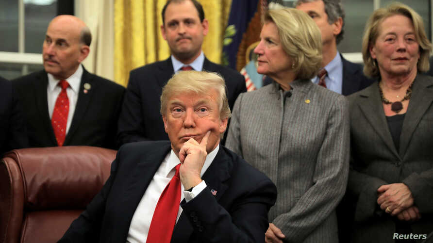 U.S. President Donald Trump attends a signing ceremony for the Interdict Act into law, to provide Customs and Border Protection agents with the latest screening technology on the fight against the opioid crisis.