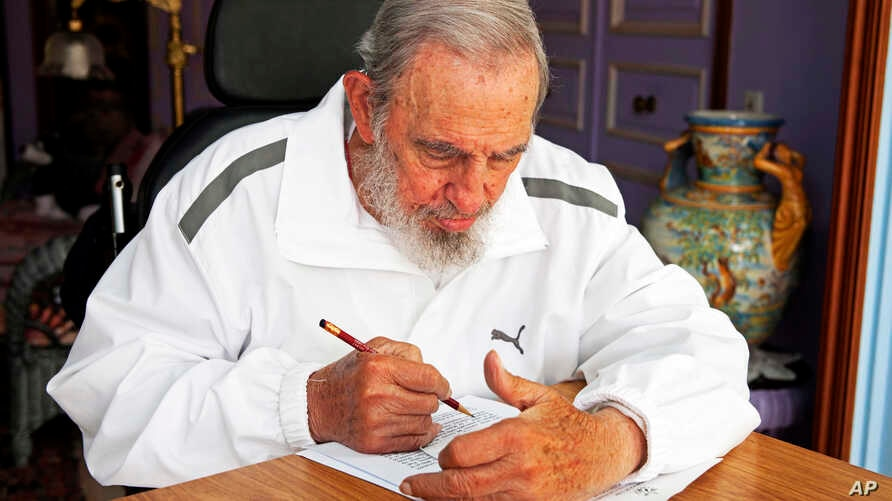FILE - Fidel Castro in Havana, Cuba, April 19, 2015.