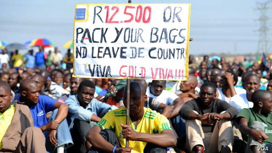 One of WASP's key demands is that the minimum wage in South Africa be raised to at least 12,500 rand (Courtesy WASP)