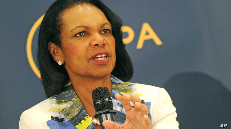 Former U.S. Secretary of State Condoleezza Rice speaks during a public debate on democracy and the aftermath of the British departure from the EU, in Warsaw, Poland, June 29, 2016.
