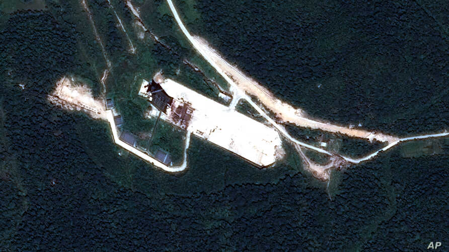 FILE - The North Korean launch site of Sohae, near the northern border with China.