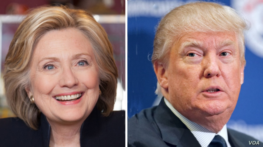 Hillary Clinton, left, and Donald Trump, right