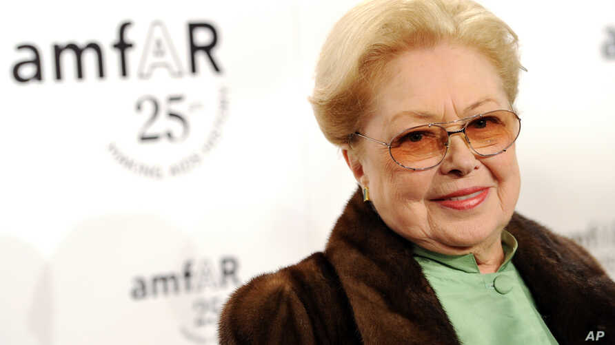 FILE - amfAR Founding Chairman Dr. Mathilde Krim attends amfAR's annual New York Gala at Cipriani Wall Street in New York, Feb. 9, 2011.