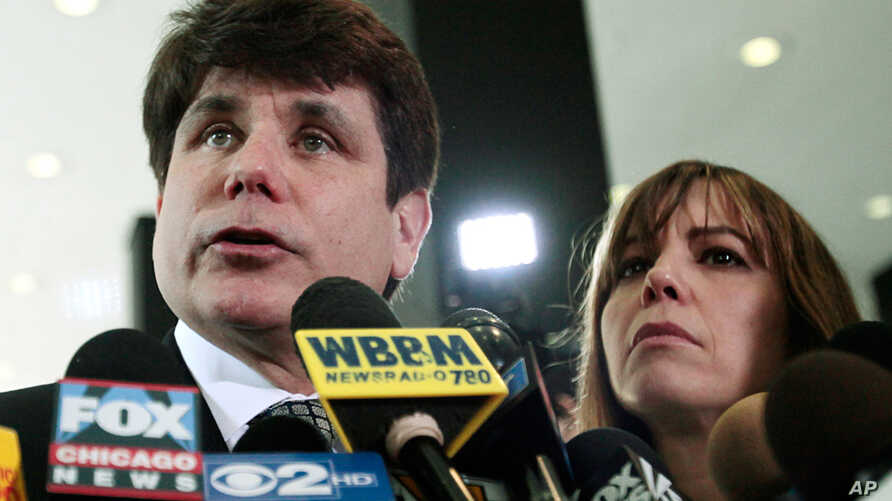 June 27: Former Illinois Gov. Rod Blagojevich speaks to the media in Chicago. Blagojevich has been convicted of 17 of the 20 charges against him, including all 11 charges related to his attempt to sell or trade President Barack Obama's vacated Senate