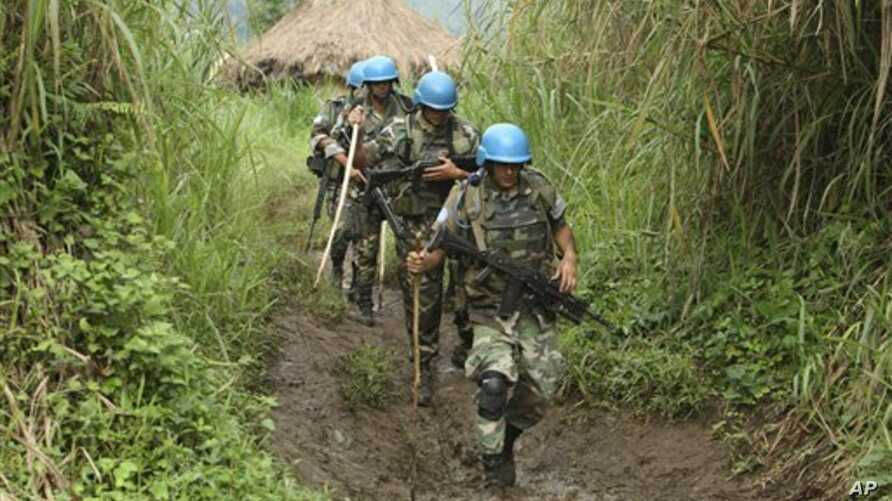 United Nations peacekeepers in the Democratic Republic of Congo (file)