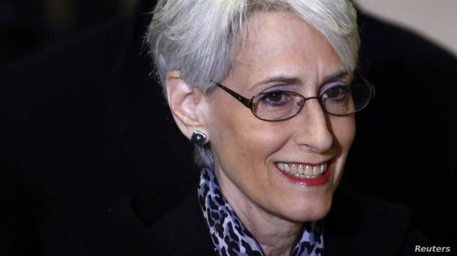 U.S. Under Secretary of State for Political Affairs Wendy Sherman arrives for a meeting on Syria at the United Nations European headquarters in Geneva, Feb. 13, 2014.