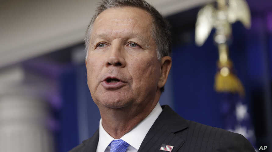 Ohio Gov. John Kasich speaks during the daily news briefing, Sept. 16, 2016, at the White House. On Tuesday, Dec. 13, 2016, Kasich responded to two abortion proposals from Ohio lawmakers.
