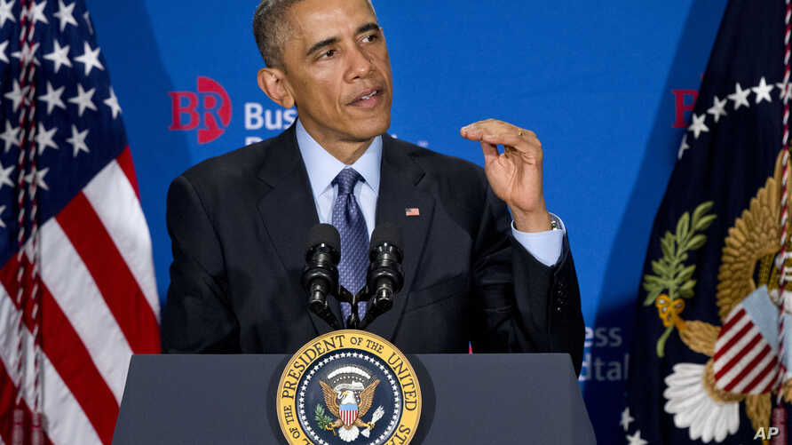 President Barack Obama speaks to leadings CEOs with the Business Roundtable group in Washington, D.C., Dec. 3, 2014.