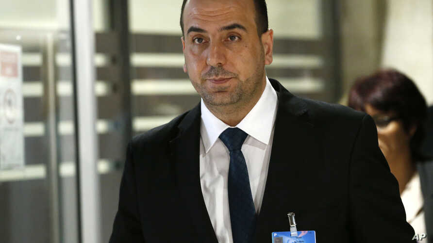 Nasr Hariri arrives for a meeting at the European headquarters of the United Nations in Geneva, March 24, 2017.