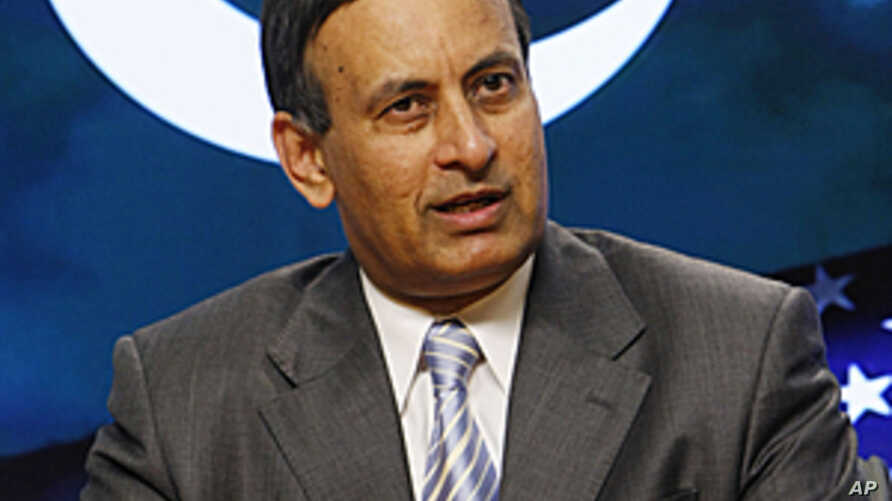 Husain Haqqani, Pakistani Ambassador to the United States, speaks during an interview with The AP in Washington, June 20, 2008 (file photo).