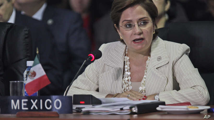 Ex-Mexico's Foreign Minister Patricia Espinosa, seen in this 2011 file photo, has been nominated to be the new U.N. climate chief, helping to bolster a 2015 Paris Agreement to shift the world economy from fossil fuels, officials said on Tuesday