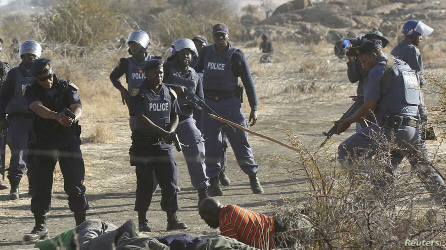 South Africa / Striking Miners