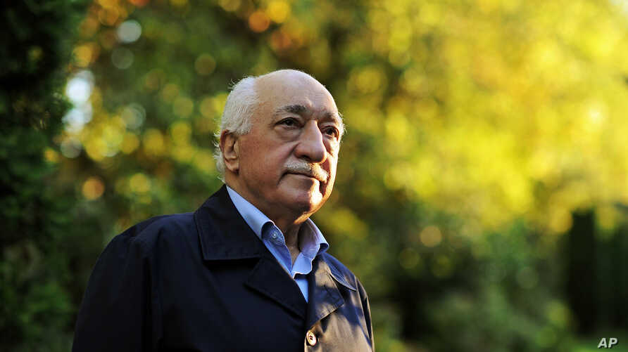 FILE - FILE - In this Sept. 24, 2013 file photo, Turkish Islamic preacher Fethullah Gulen is pictured at his residence in Saylorsburg, Pa.