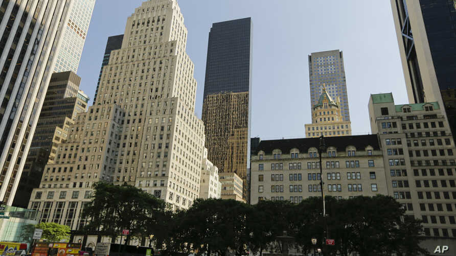 The Trump Tower, center, is shown Tuesday, May 31, 2016, in New York.