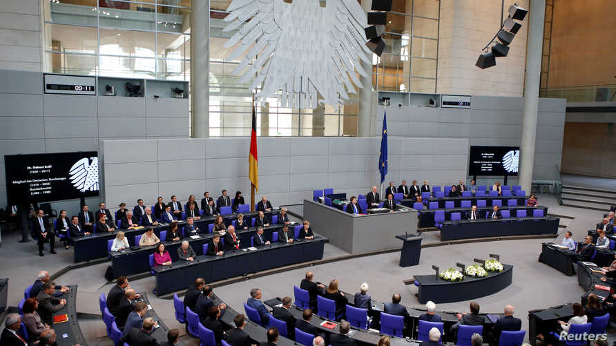 Germany's lower house of parliament, pictured June 22, 2017.