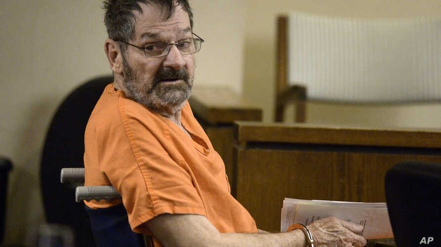 FILE - Frazier Glenn Cross looks around after entering a courtroom in Olathe, Kan., April 24, 2014.