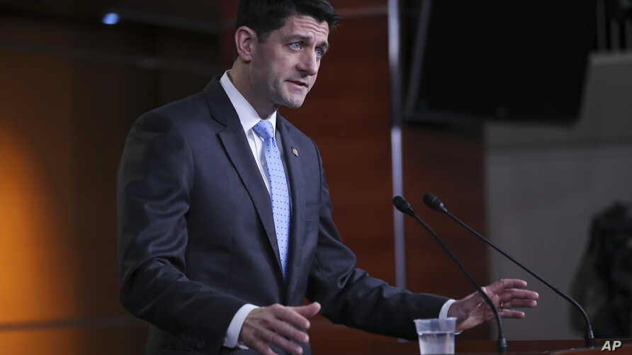 House Speaker Paul Ryan of Wis., speaks to the media during a news conference, Feb. 15, 2018, on Capitol Hill in Washington.