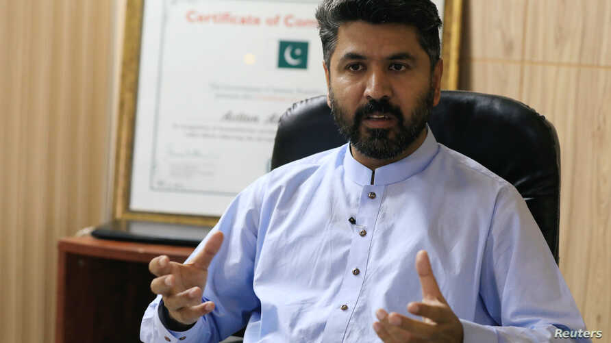 Abdul Khaliq, Head of Programs for ActionAid of ActionAid Pakistan speaks during an interview with Reuters in Islamabad, Pakistan, Oct. 4, 2018.