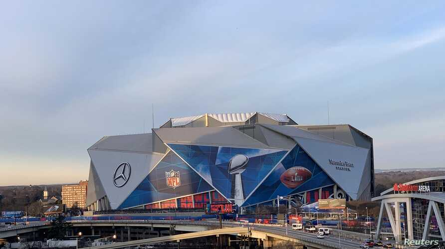 The overall view of Super Bowl LIII at the Mercedes-Benz Stadium, Atlanta, Jan. 301,2019.