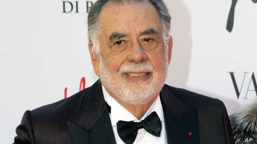 "FILE - Director Francis Ford Coppola arrives at the Rome Opera House, in Rome, May 22, 2016. The 16th Tribeca Film Festival closed with a ""Godfather"" cast reunion and a back-to-back screening of parts one and two of Coppola's classic saga."