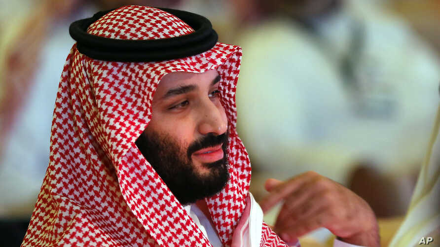Saudi Crown Prince, Mohammed bin Salman attends the second day of the Future Investment Initiative conference, in Riyadh, Saudi Arabia, Oct. 24, 2018.