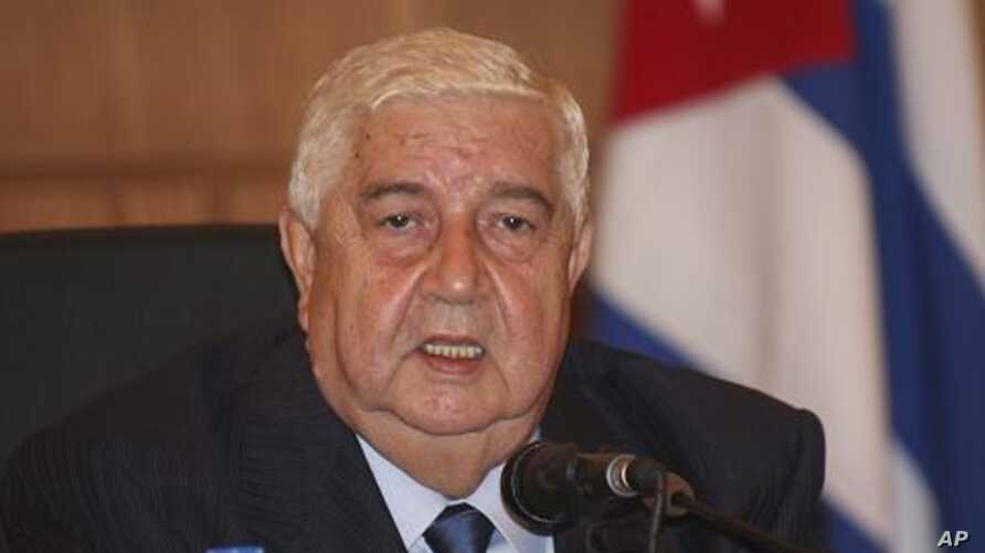 Syrian Foreign Minister Walid al-Moallem, October 9, 2011.
