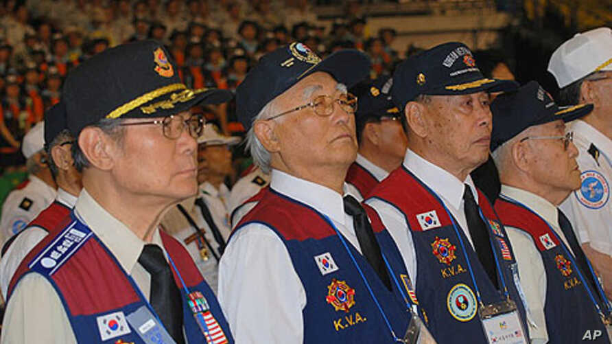 Members of the Korean Veterans Association