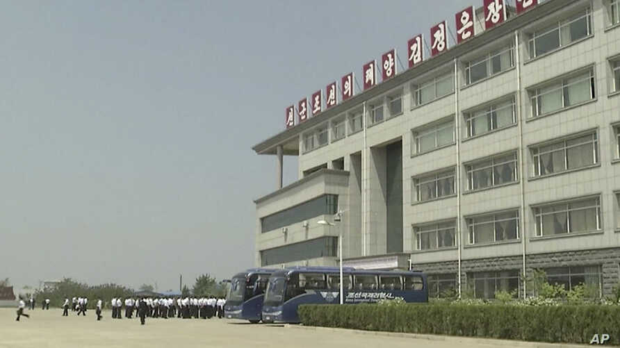 This image made from May 21, 2014, video shows the Pyongyang University of Science and Technology.