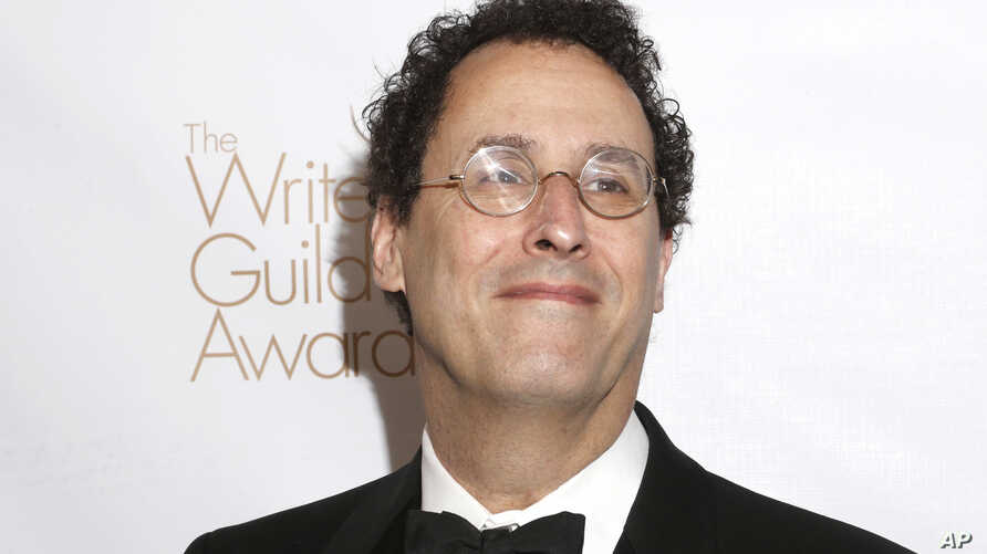 FILE - Tony Kushner attends the 2013 Writers Guild Awards in Los Angeles, Feb. 17, 2013.