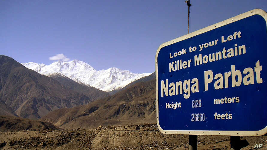 """In this undated image, Nanga Parbat is seen in northern Pakistan. Nanga Parbat is widely known as """"Killer Mountain"""" because of the many climbers who have perished there."""