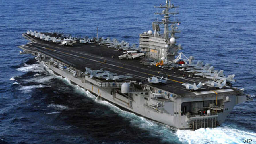 USS Ronald Reagan is  directed to Japan following a 8.9 earthquake and tsunami to render humanitarian assistance and disaster relief as directed, March 12, 2011