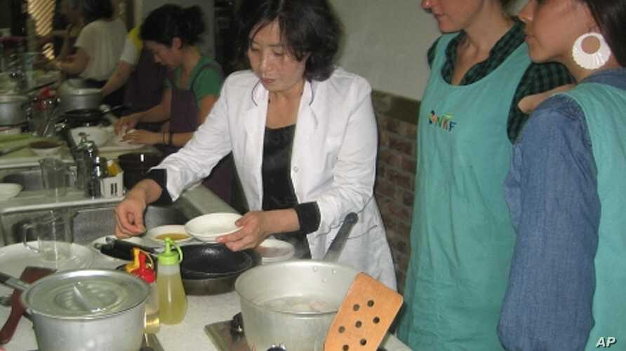 Lee Aeran once inspected food for the North Korean government, now she teaches North Korean cuisine at her cooking institute in Seoul