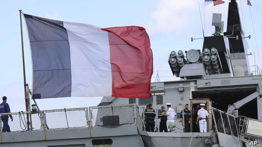 The French stealth frigate Courbet is docked at Naval Base Guam, May 11, 2017 near Hagatna, Guam. Military personnel from the United States, Japan, France and the United Kingdom are gathering in the remote U.S. Pacific islands of Guam and Tinian for