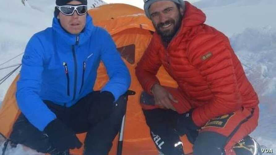 Tom Ballard, left, and Daniele Nardi were caught in bad weather about two weeks ago while trying to climb the 8,125-meter Nanga Parbat.