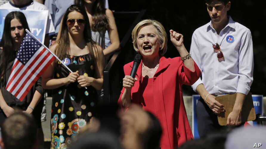 Democratic presidential candidate Hillary Clinton speaks during a campaign event July 3, 2015, in Hanover, New Hampshire.