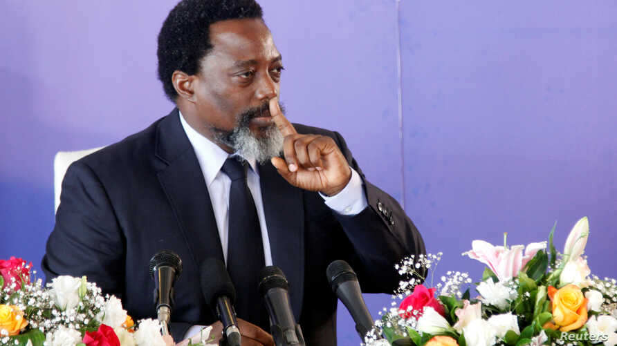 Democratic Republic of Congo's President Joseph Kabila addresses a news conference at the State House in Kinshasa, Democratic Republic of Congo Jan. 26, 2018.