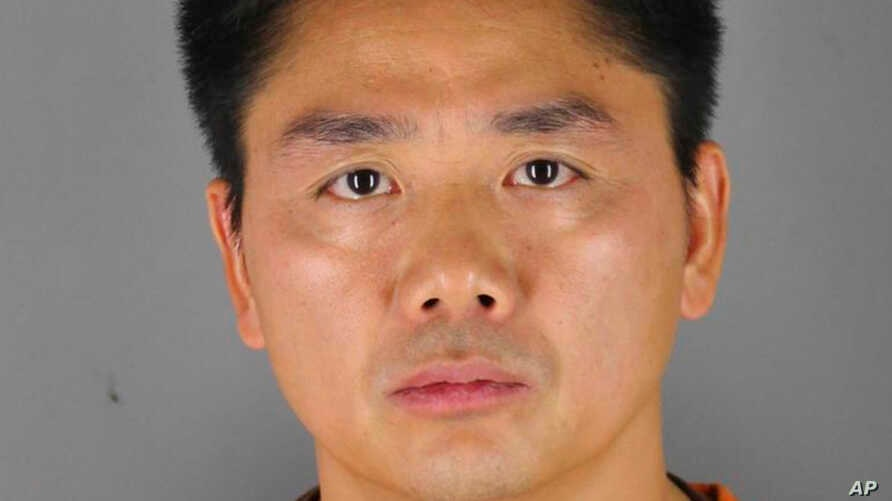 This 2018 photo provided by the Hennepin County Sheriff's Office shows Chinese billionaire Liu Qiangdong, also known as Richard Liu, the founder of the Beijing-based e-commerce site JD.com, who was arrested in Minneapolis on suspicion of criminal s...