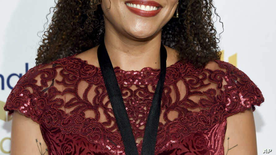 """Writer Jesmyn Ward attends the 68th National Book Awards Ceremony and Benefit Dinner after winning the National Book Award for fiction for her novel """"Sing, Unburied, Sing,"""" Nov. 15, 2017, in New York."""