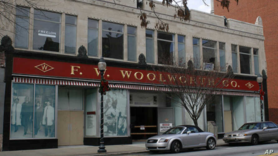 The Woolworth's five-and-dime store is now a civil rights