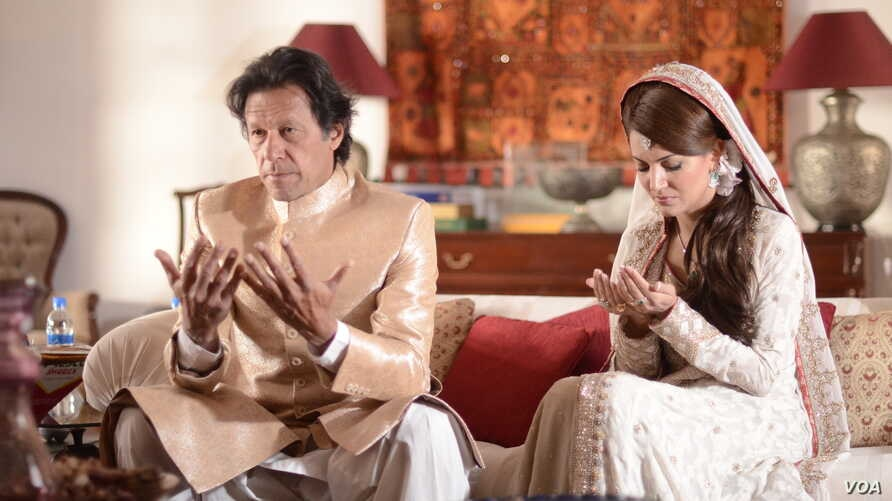 Pakistani politician and former cricket superstar Imran weds KhanReham Khan, a former BBC weather reporter, at his home in Islamabad, Jan. 8, 2015. (Courtesy Photo:  Pakistan Tehreek-e-Insaf)