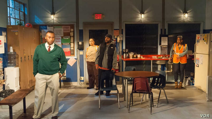 A scene from Skeleton Crew, which was honored with an Obie award.