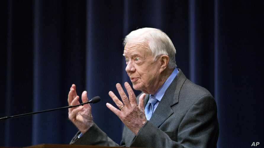 FILE - Former President Jimmy Carter.