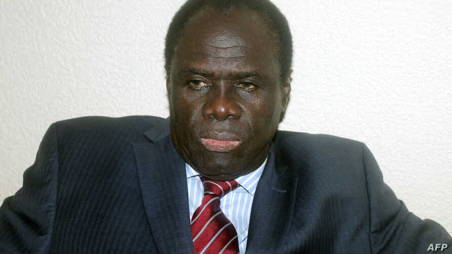 Burkina Faso's newly appointed interim president Michel Kafando looks on early on November 17, 2014 in Ouagadougou. Veteran diplomat Michel Kafando has been chosen as Burkina Faso's interim president, officials in the west African country announced o