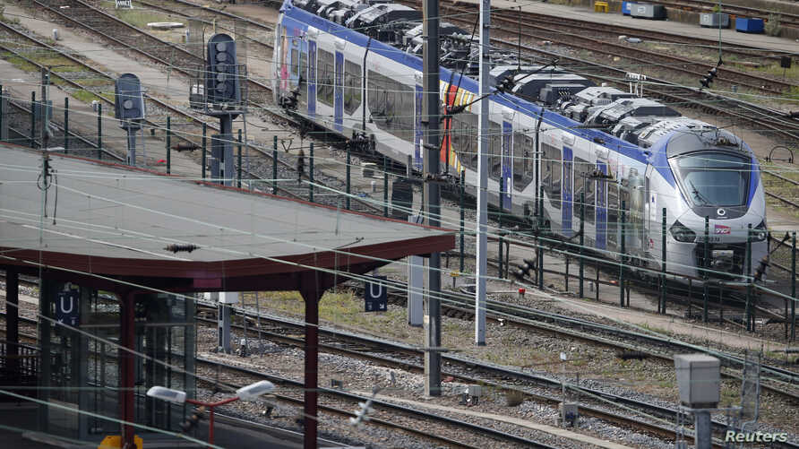 A new Regiolis regional train made by power and train-making firm Alstom, is seen next to a platform at Strasbourg's railway station, May, 21, 2014.