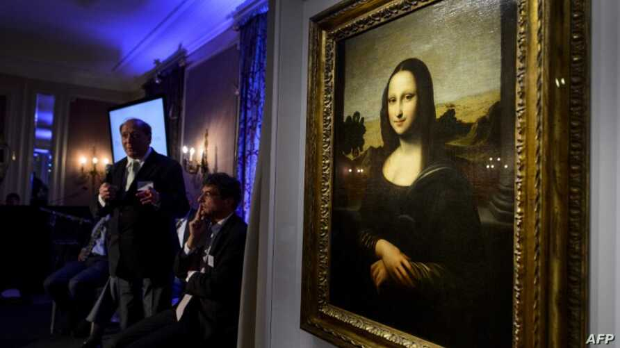 """The """"Isleworth Mona Lisa,"""" seen here on September 27, 2012, in Geneva, is purported to be an earlier version of the """"Mona Lisa"""" painted by Leonardo da Vinci, although some experts said the claim was unlikely."""