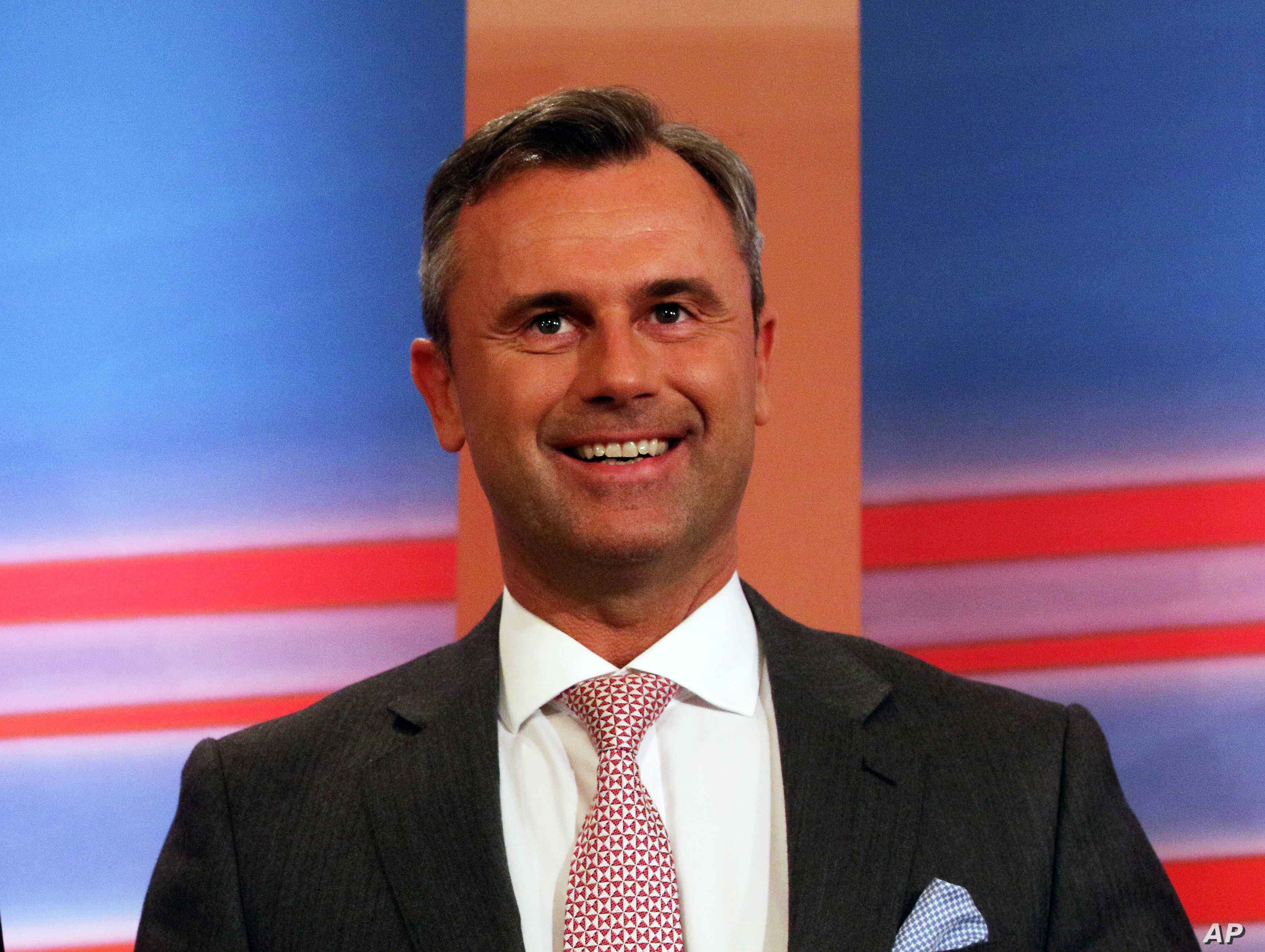 Norbert Hofer, candidate for president of Austria's Freedom Party, FPOE, in Vienna, April 24, 2016.