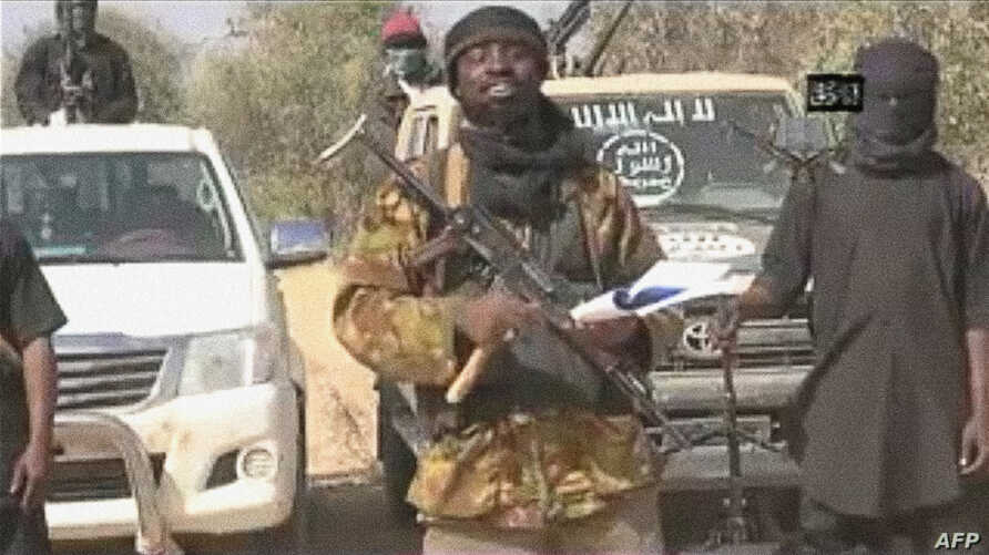 A screen grab from a video of Nigerian Islamist extremist group Boko Haram obtained by AFP shows the leader of the Islamist extremist group Boko Haram Abubakar Shekau delivering a message, Jan. 20, 2015.