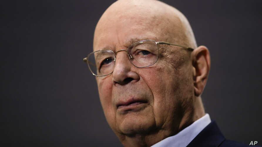 Klaus Schwab, founder and Executive Chairman of the World Economic Forum, poses during an interview by the Associated Press on the eve of the forum, WEF, in Davos, Switzerland, Jan. 20, 2019.