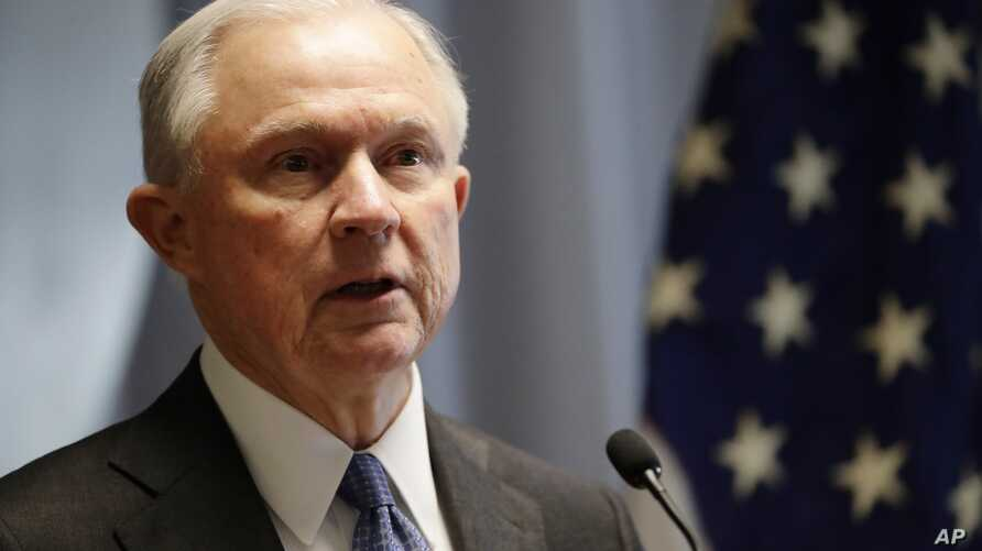 Attorney General Jeff Sessions speaks in Central Islip, N.Y. Justice Department officials have been weighing new guidance that would encourage prosecutors to charge suspects with the most serious offenses they can prove.